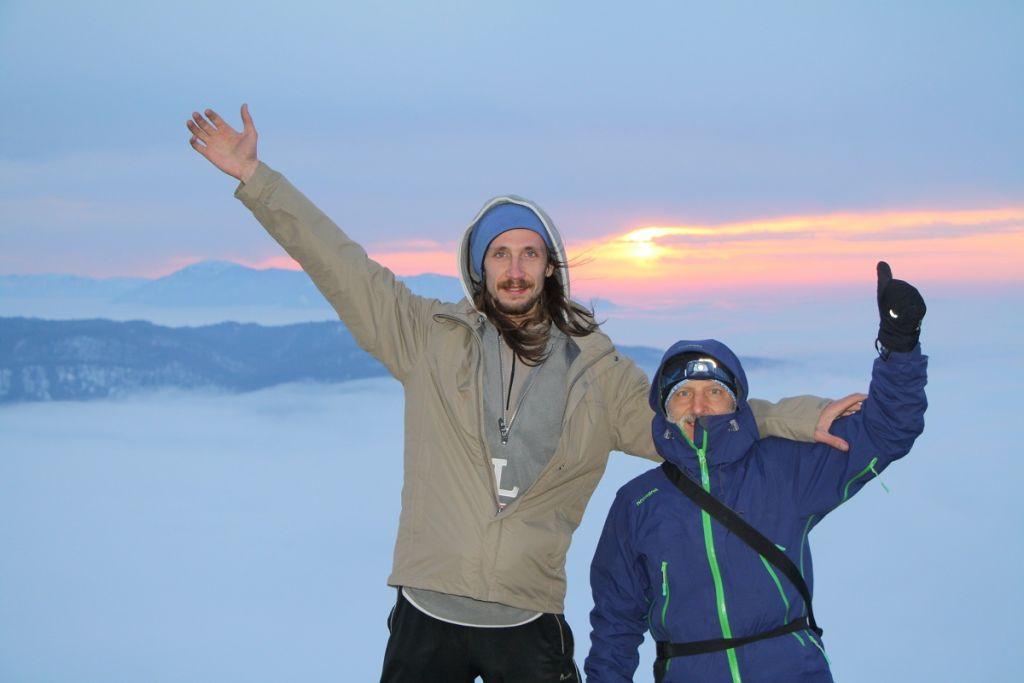 Закат на горе Буква