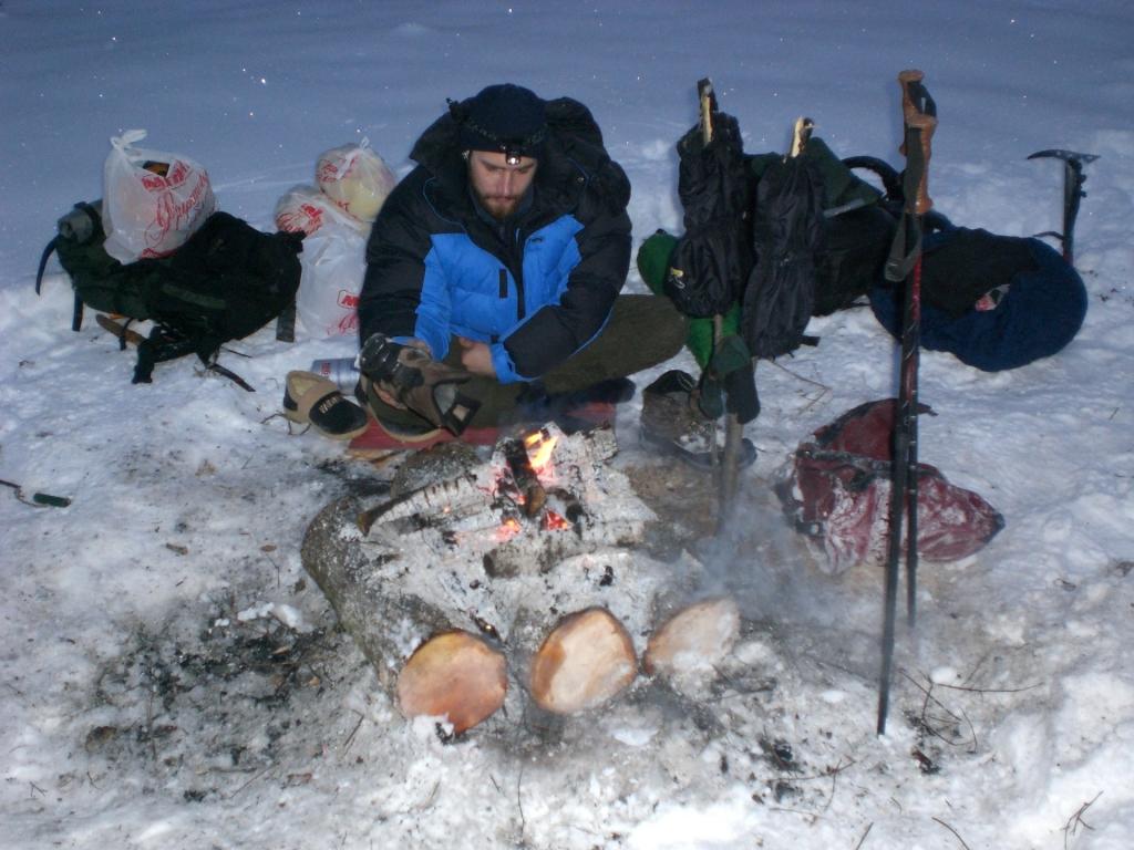 Холодная ночевка. Было в ту ночь - 21 градус!