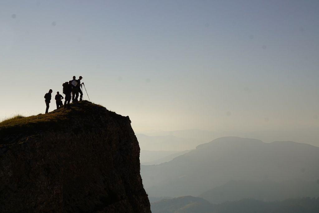 На вершине горы Большой Тхач.