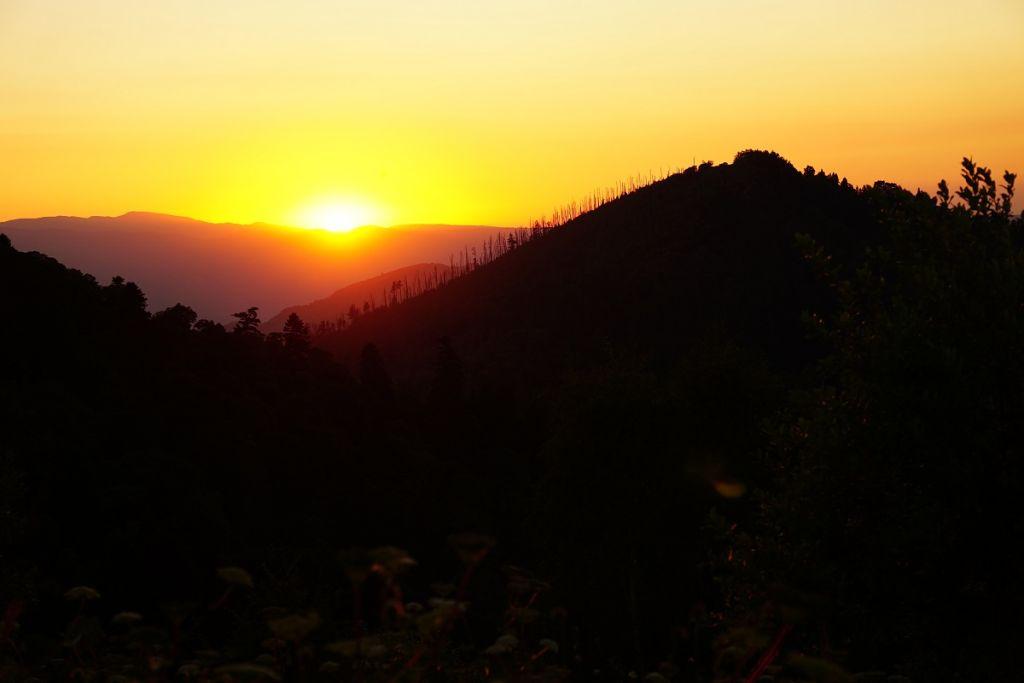 Закат на фоне горы Горелой.