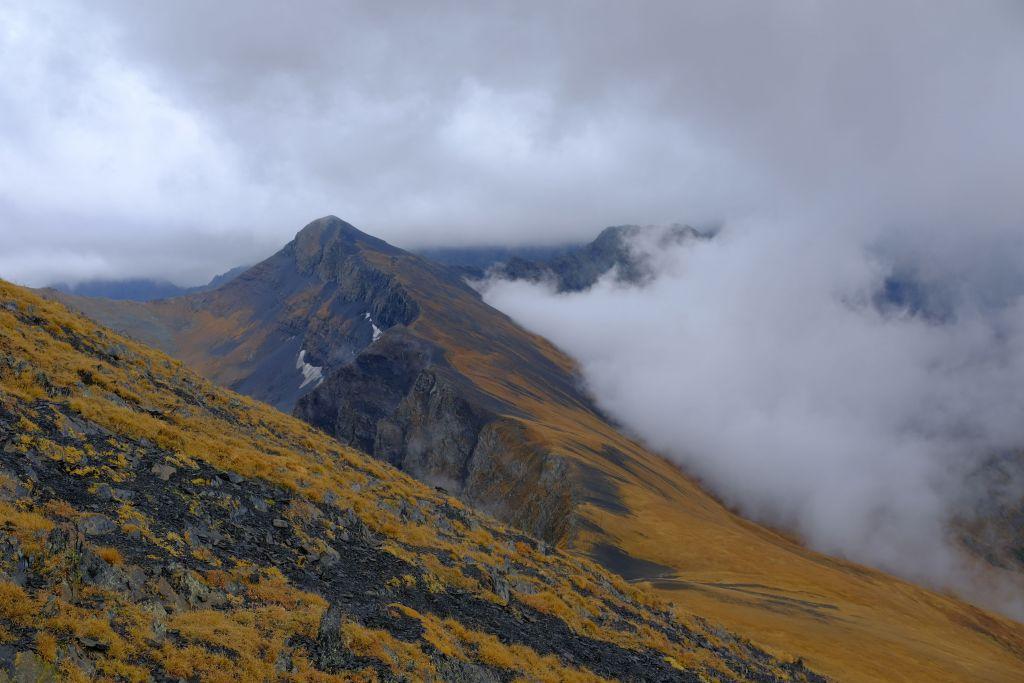 Вид с вершины горы Мраморная.