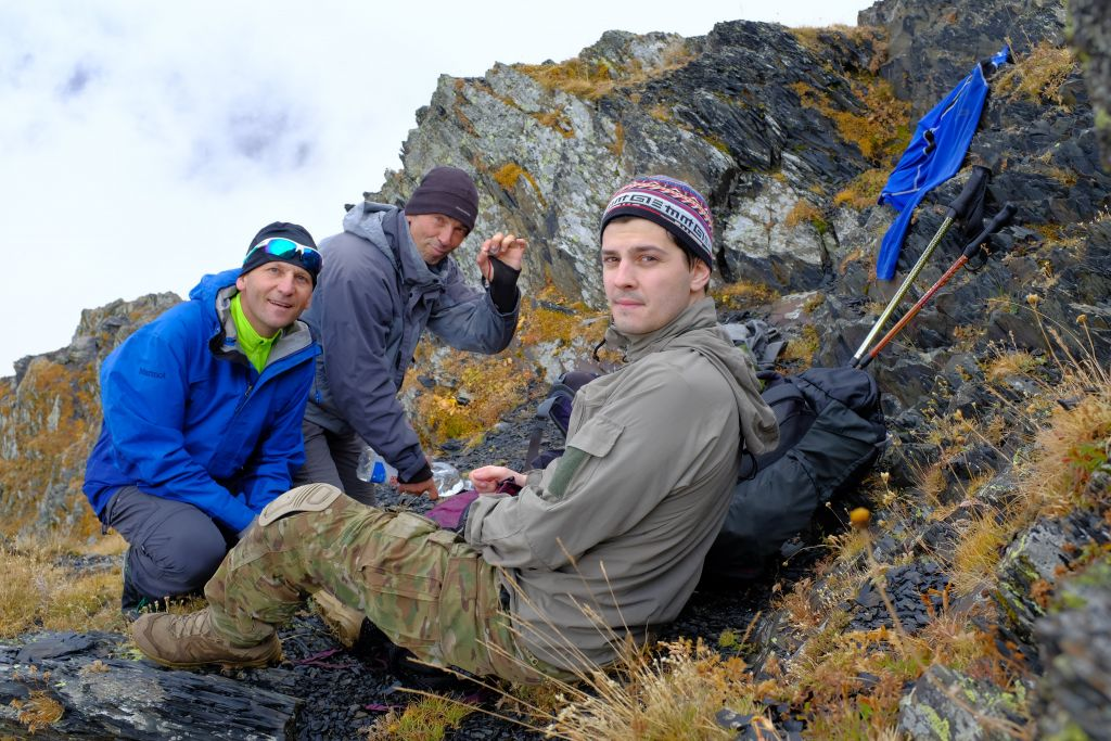 Обед на вершине горы Мраморная