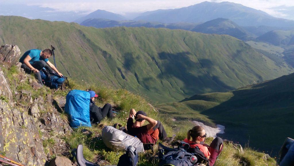 Отдых на отроге горы Тыбга