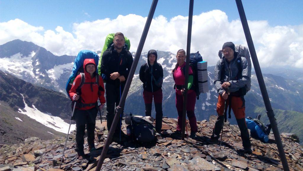 На вершине горы Тыбга с друзьями из Краснодара.