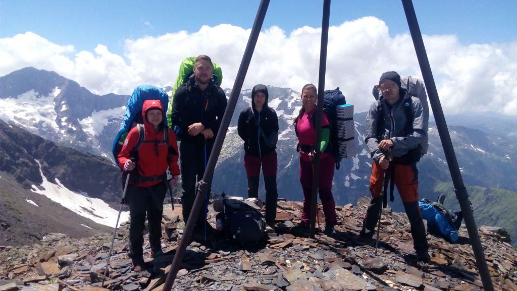 Вершина горы Тыбга.