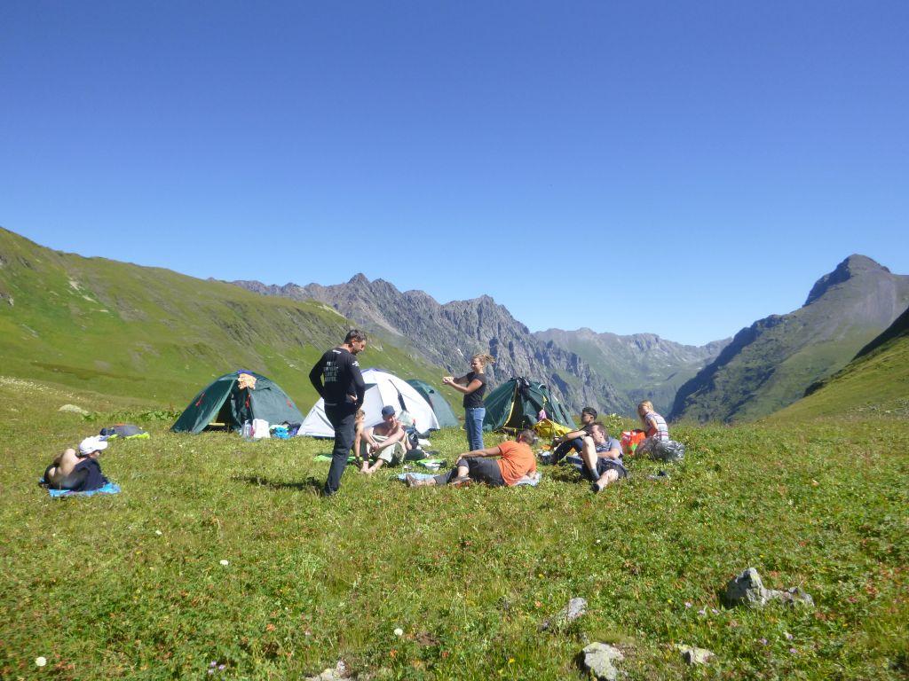 Лагерь у озера Аишха
